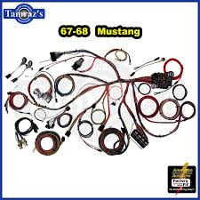 67 68 mustang classic update series complete body & interior wiring 68 mustang wiring harness install 67 68 mustang classic update series complete body & interior wiring harness kit ebay