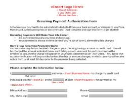 Recurring Payment Authorization Form Credit Cards Authorization Form Template 39 Ready To Use Templates