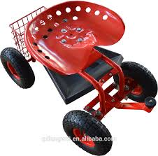 garden seat on wheels. Wheeled Garden Seat Hopper Gardening Work Cart Tool Storage Rolling Stool Wagon On Wheels