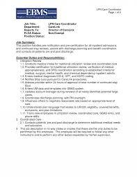 Lpn Care Coordinator Resume Template Essential Duties And