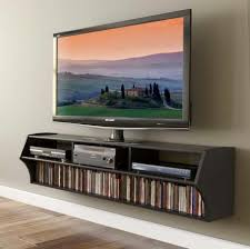 cool narrow wall mounted tv stand with horizontal dvd shelf and equipment storage design awesome office narrow long