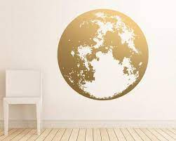 moon wall decal gold wall decals unique