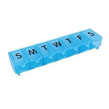 sunnymi Creative <b>Portable Pill Box 7</b> Day Medicine Tablet ...