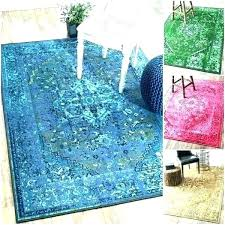 rug turquoise rugs vintage inspired wool overdyed threshold ru