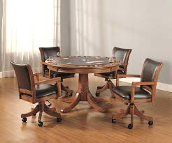 dining room sets with chairs on casters unique dinette wheels and