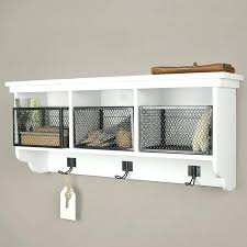 wall shelf with hooks nice ideas baskets shelves on wall shelf with baskets and hooks wire