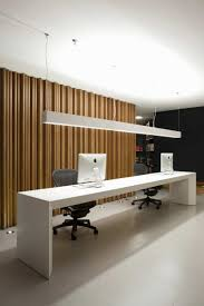 interior designing contemporary office designs inspiration. 16 Incredible Office Interior Design Ideas For Your Inspirations : Contemporary Receptionist Desk With White And Apple Mac Computers Along Designing Designs Inspiration W