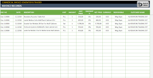 Commercial Invoice Commercial Invoice Template Excel Invoice Generator Tracker Tool