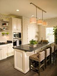 Modern Wallpaper For Kitchen Modern Kitchen Design Red Glossy Cabinets Black White Pattern