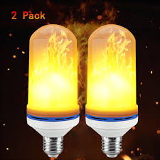 Light Bulbs That Look Like Fire Led Flame Effect Fire Light Bulbs Cshidworld E26 3 Modes Led