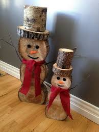diy snowman logs these are the best homemade decorations craft ideas