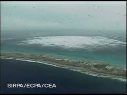 Image result for 1995 french underground nuclear bomb test in south pacific ocean