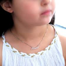 children s letters nameplate necklace