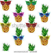 pineapple with sunglasses clipart. pineapple with sunglasses tropical vector illustration seamless, summertime pattern clipart c