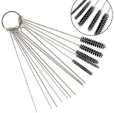treyues carburetor carbon dirt jet remove tool kit 10pcs stainless steel cleaning needles 5pcs brushes for auto motocycle atv