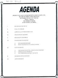 Example Of Agenda For A Meeting Impressive Meeting Minutes Template Doc Awesome Board Agenda Formal Aweso