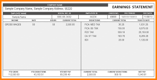 Paycheck Stub Layout Paycheck Stub Template For Excel Under Fontanacountryinn Com