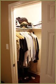 deep coat closet organization