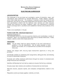 Responsibilities Of An Electrician Electrician Duties Resume