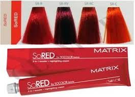 Matrix Red Colour Chart Barva Na Vlasy Matrix Socolor Beauty So Red Glamot Cz V