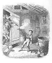 oliver twist  oliver is wounded in a burglary by george cruikshank