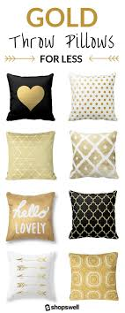 The Midas Touch: 20 Fabulously Affordable Gold Throw Pillows