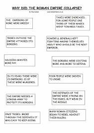 fall of the r empire essay the collapse of the r empire  the collapse of the r empire worksheet year 7 the collapse of the r empire worksheet ancient rome writing prompts