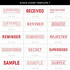 Stock Stamp 7 | Ezy Chop