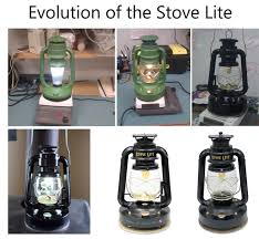 stove lite. the first prototype worked, but we knew could improve reliability, efficiency, and light output. several drawings were created as worked on a stove lite