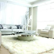 furry rugs round black rug for living room white uk