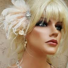 Gatsby Hair Style hair fascinator wedding bridal hair clip feather hair clip 4291 by stevesalt.us