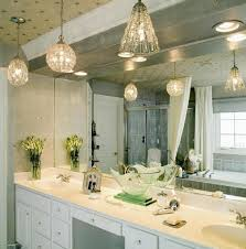 bathroom lighting chandelier. Bathroom Decoration Using Cone Clear Glass Modern Pendant Light Including White Wooden Double Lighting Chandelier