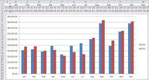 Month To Month Comparison Excel Chart Expose Trends Using A Combo Chart In Excel Techrepublic