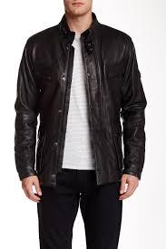 image of barbour saddler genuine leather jacket