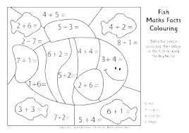 Color Math Sheets Addition Coloring Worksheets Color By Adding Math