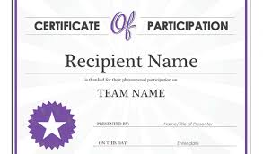 Certificate Of Participation Templates Certificate Participation Template Free Certificate Of