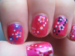 Easy Small Summer Flowers, Beginners Nail Art on Short Nails - YouTube