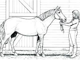 Printable Race Horse Coloring Pages Realistic Jumping To Print For