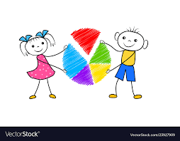 Chart Cartoon Cartoon Boy And Girl Holding Pie Chart In Hands