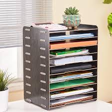 creative office storage. Wooden Creative Desktop Archive File Rack A4 Sundries Office Storage Box Multi-layer E