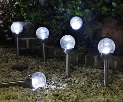 Crackle Glass Globe Solar Lights Led Solar Powered Globe Garden Light Bigit Karikaturize Com