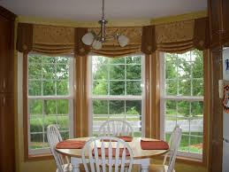 Nice Window Treatment Ideas For Bay Windows White Taupe Coloring