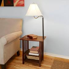 end table and lamp combo designs floor lamps with tables built in