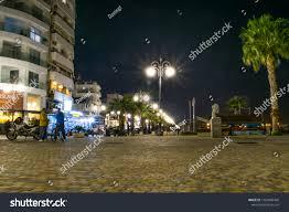 Special Lights Larnaca Promenade Night City Lights Larnaca Cyprus Stock Photo Edit