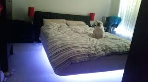 floating bed with led nightlight and speakers round floating bed diy floating bed floating bed outdoor hanging bed diy