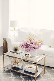 retro glam gold and glass fl coffee table display