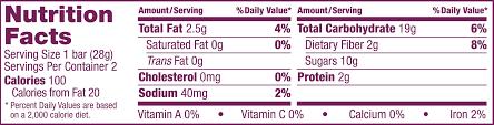 whole wheat original fig nutrition panel