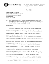 Academic Appeal Letter Unique Dryden NY Letter To NY Court Of Appeals On Town Ban Case