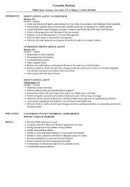 Resume Templates Hotel Front Desk Agent Examples Offices Velvet