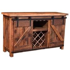 rustic bar cabinet add some rustic charm into your home with this sliding barn door rustic wine bar cabinet